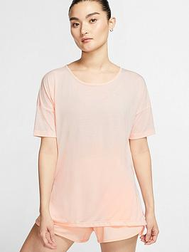 nike-yoga-dry-layer-short-sleeve-top-coral