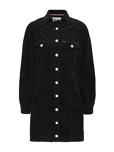 tommy-jeans-fitted-shirt-dress-black