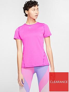 nike-training-pro-365-essential-short-sleeved-meshnbsptop-pink