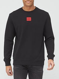 hugo-diragol-red-patch-logo-sweatshirt-black