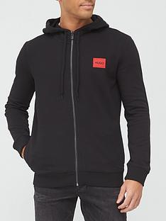 hugo-daple-red-patch-logo-zip-through-hoodie-black