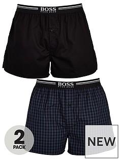 boss-2-pack-of-bodywearnbspwoven-check-boxer-shorts-navy