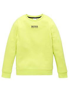 boss-boys-classic-crew-sweat-lime