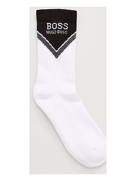 boss-bodywear-chevron-block-sports-socks-white