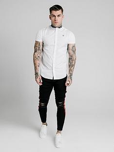 sik-silk-short-sleeve-tape-collar-shirt-white