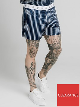 sik-silk-eyelet-elasticated-swim-shorts-navy