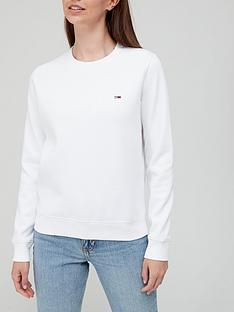 tommy-jeans-regular-fleece-small-logo-crew-sweat-white