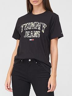 tommy-jeans-collegiate-floral-t-shirt-black