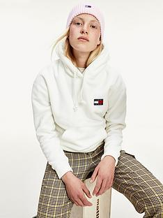 tommy-jeans-badge-polar-fleece-hoodie-white