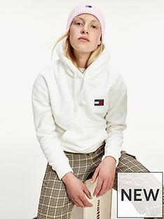 tommy-jeans-badge-polar-fleece-hoodie-white