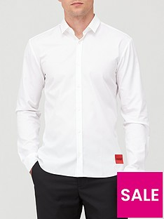 hugo-ero-3-red-patch-logo-shirt-white