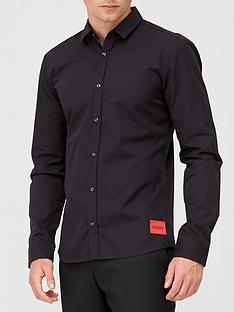 hugo-ero-3-red-patch-logo-shirt-black