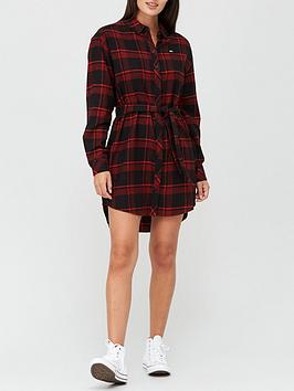 tommy-jeans-flannel-shirt-dress-multi