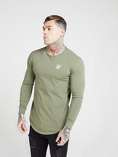 sik-silk-core-gym-t-shirt-khaki
