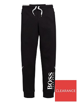 boss-boys-classic-logo-cuffed-jogger-black