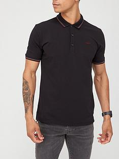 hugo-dinoso-polo-shirt-black