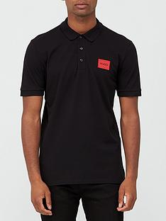 hugo-dereso-red-patch-logo-polo-shirt-blacknbsp