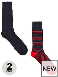 boss-bodywear-2-pack-rs-stripe-socks-navy