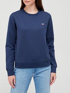 tommy-jeans-regular-fleece-small-logo-crew-sweat-navy