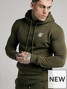 sik-silk-muscle-fit-overhead-hoodie-khaki