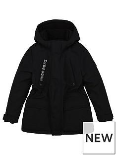 boss-boys-fleece-lined-hooded-parka-black