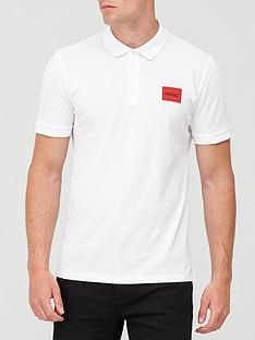 hugo-dereso-red-patch-logo-polo-shirt-white