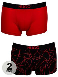 hugo-hugo-2-pack-brother-trunks-blackred