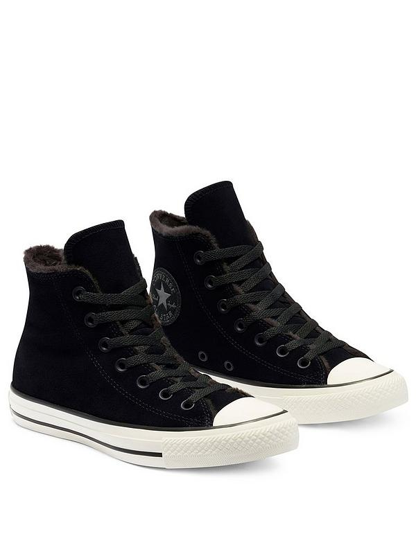 Converse All Star Faux Fur Lined Hi Tops Black Very Co Uk