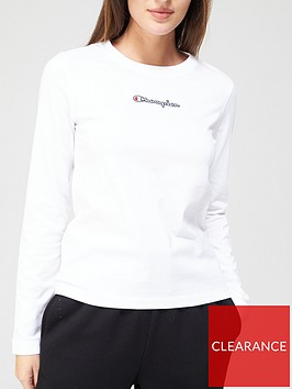 champion-crew-neck-long-sleevenbspt-shirt-white