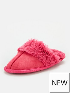 v-by-very-girls-mule-slipper-pink