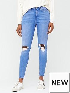 v-by-very-ella-high-waisted-knee-rip-skinny-jean-bright-blue