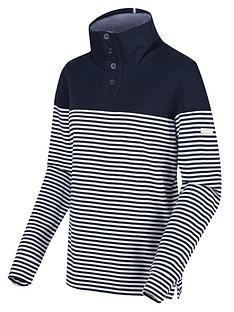 regatta-camiola-quarter-zip-fleece-navy-stripe