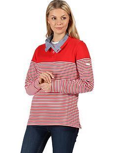 regatta-camiola-quarter-zip-fleece-red-stripenbsp