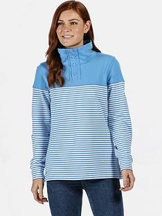 regatta-camiola-quarter-zip-fleece-blue-stripenbsp