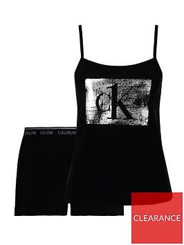 calvin-klein-cami-ampnbspshort-sequin-logo-set-black