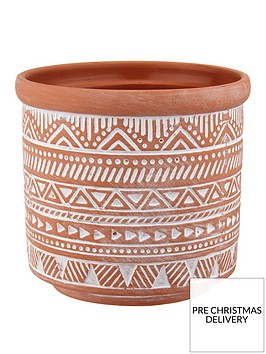 sass-belle-geo-terracotta-planter