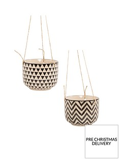 sass-belle-set-2-geo-hanging-planters