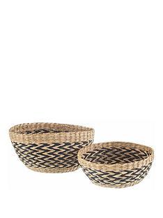 sass-belle-set-2-seagrass-decorative-bowls