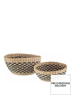 sass-belle-set-2-seagrass-decorative-bowls