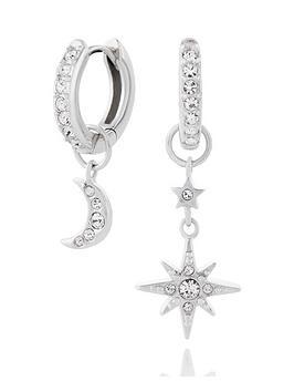 olivia-burton-olivia-burton-celestial-moon-and-north-star-huggie-hoops-silver