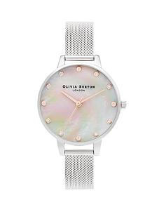 olivia-burton-classics-demi-mother-of-pearl-dial-with-screw-detail-silvernbspmesh-bracelet-watch
