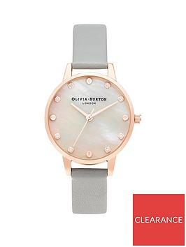 olivia-burton-olivia-burton-classics-midi-mop-dial-with-screw-detail-grey-rose-gold