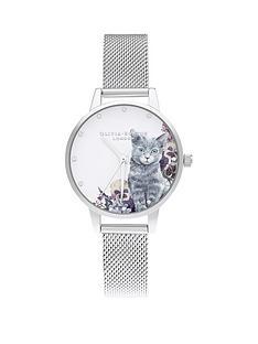 olivia-burton-olivia-burton-illustrated-animals-midi-dial-grey-cat-silver-mesh-watch
