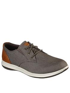 skechers-darlow-canvas-trainers-grey
