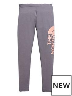 the-north-face-girls-cotton-blend-legging-greypink