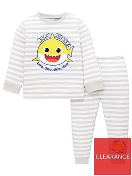 baby-shark-unisex-baby-shark-striped-pjs-grey