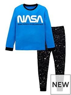nasa-long-sleeve-pjs-blue