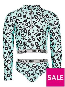 river-island-girls-leopard-sunsafe-and-brief-set-green