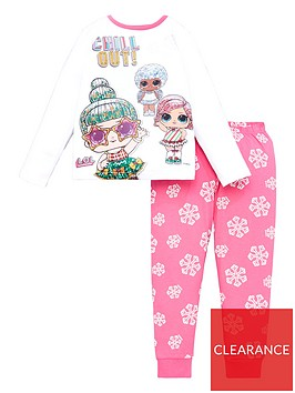 lol-surprise-girls-chill-out-glitter-long-sleeve-pjs-white