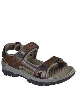 skechers-tresman-velcro-sandals-brown
